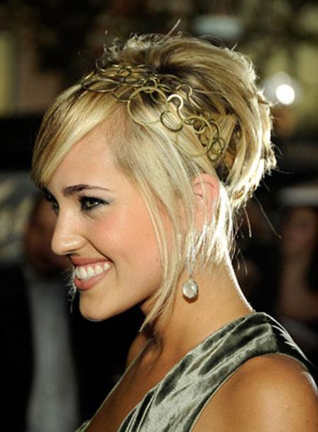 The-Bun-Hairstyle-with-Long-Bangs Cute Ideas for Short Hair