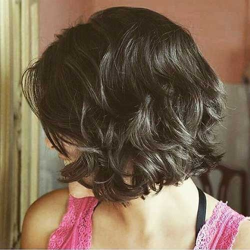 Thick-Dark-Brown-Hair Short Wavy Hairstyles for Women with Style