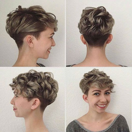 Very-Short-Undercut-Curly-Hairstyle Very Short Curly Hairstyles for Smart Ladies