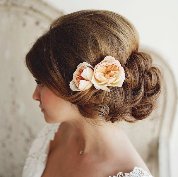 Wedding-Hairstyles-22 Romantic Wedding Hairstyles for 2019