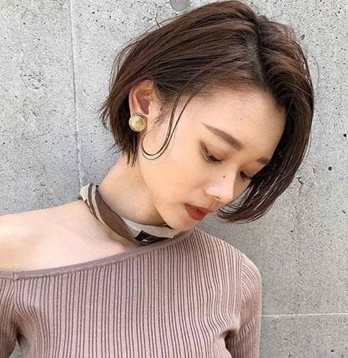 Asian-Bob-Cut Modern Hairstyles for Short Hair