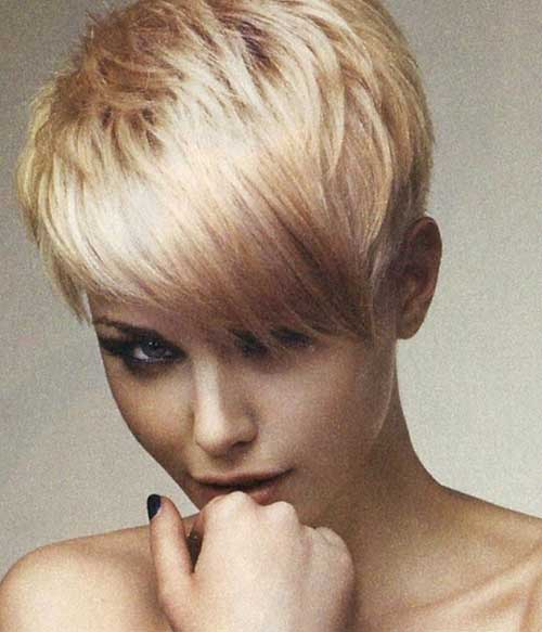 Blonde-pixie-hair Short pixie haircuts for women