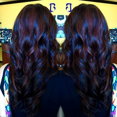 Blue-Tinted-Ombre New Hairstyles and Hair Color Ideas for Fall