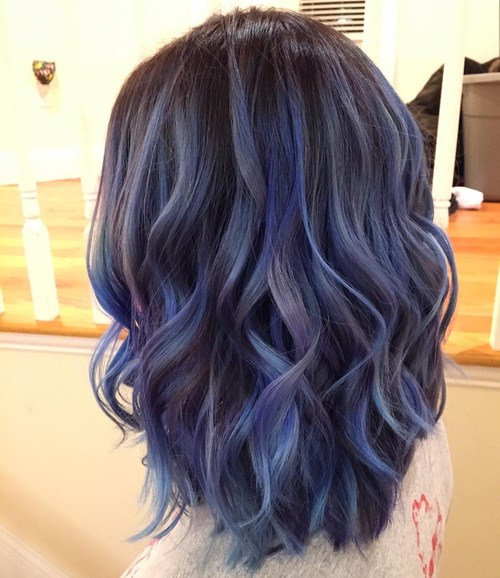 Blue-and-Purple-for-shoulder-length-hair Best Hair Colors for Winter 2019: Hottest Hair Color Ideas