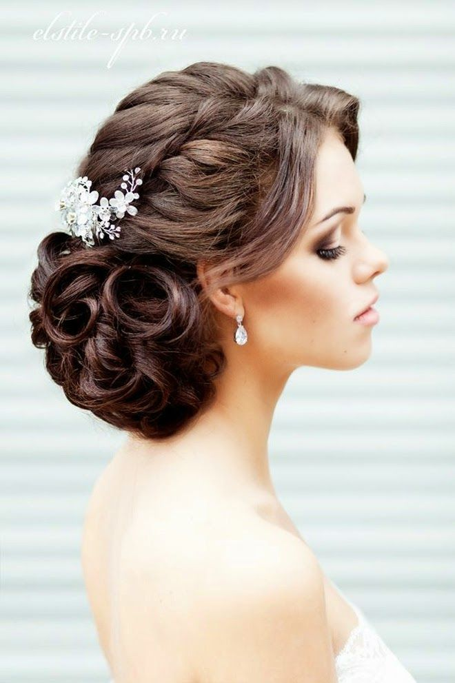 Braided-Wedding-Updo-With-Flower-Pins Glamorous Wedding Updos for 2019