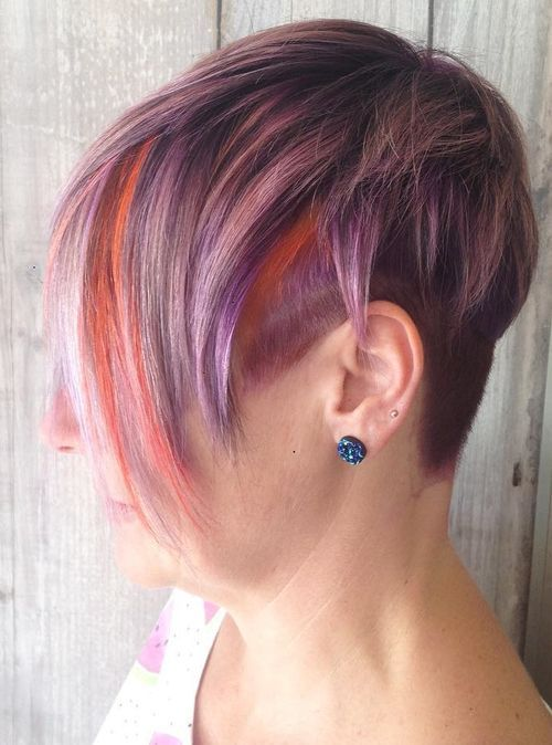 Bright-Color-Short-Hair Awsome Highlighted Hairstyles for Women – Hair Color Ideas