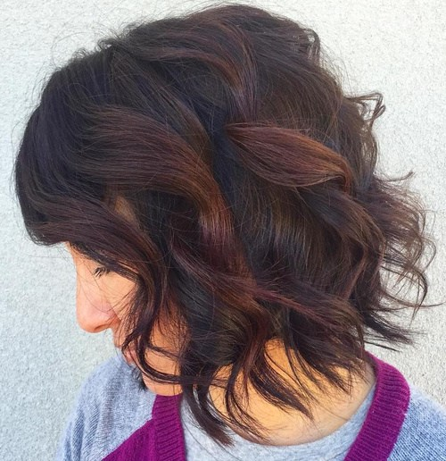 Chocolate-Curls-for-medium-thick-hair Best Hair Colors for Winter 2019: Hottest Hair Color Ideas