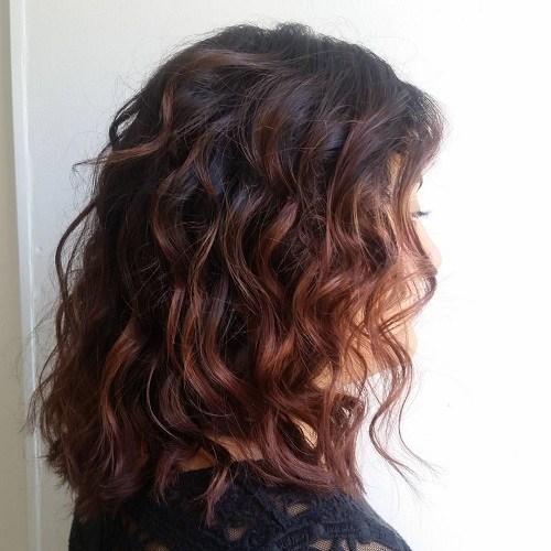 Chocolate-Curls Trendy Mahogany Hair Color Ideas