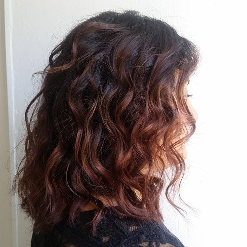 Chocolate-Curls Trendy Mahogany Hair Color Ideas