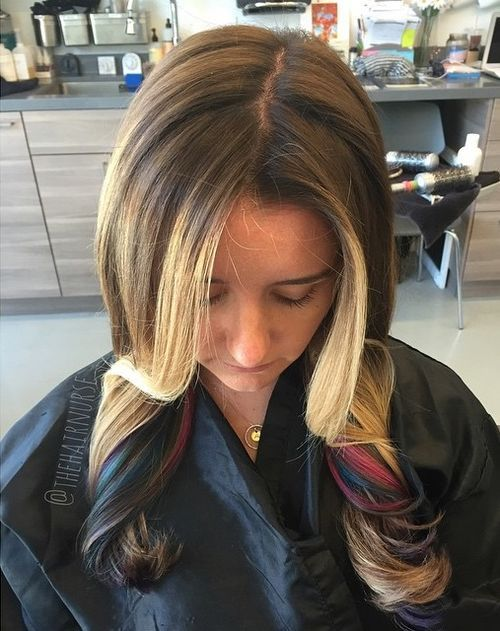 Colorful-Ends Awsome Highlighted Hairstyles for Women – Hair Color Ideas