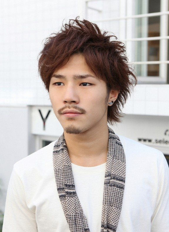 Cool-Asian-Guys-Red-Messy-Haircut-with-Layers Cool Korean and Japanese Hairstyles for Asian Guys