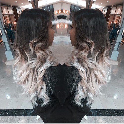 Curled-Silver-Ends Gorgeous Ways to Rock Blonde and Sliver Hair