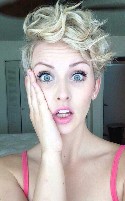 Cute-Curly-Pixie-Cut-for-Girls Short Curly Pixie Haircuts