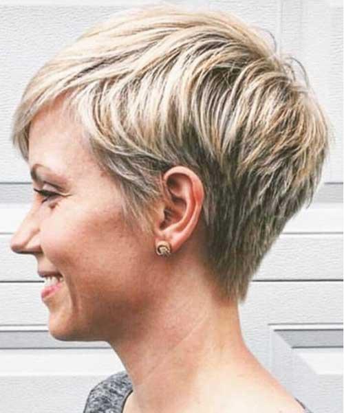 Cute-Pixie Short Thin Hairstyles to Easily be Feminine