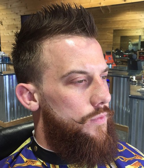 Edgy-Faux-Hawk Hottest Faux Hawk Hairstyles for Men