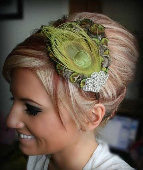 Feather-Headband Short Formal Hairstyles with Hottest Way