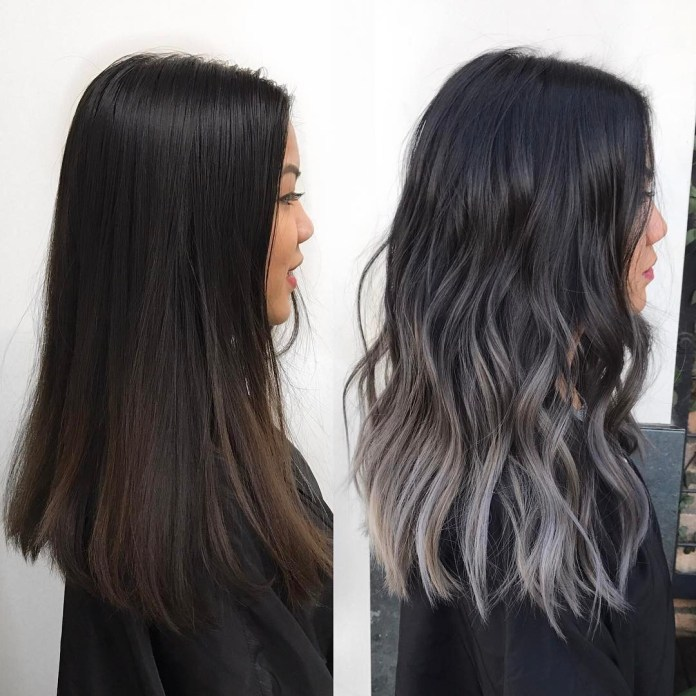 Grey-ash-on-dark-hair Stunning Hairstyles for Black Hair 2019