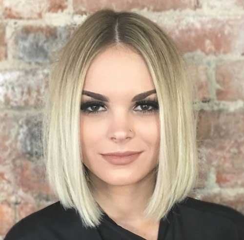 Hairstyle-Blunt-Cut Short Thin Hairstyles to Easily be Feminine