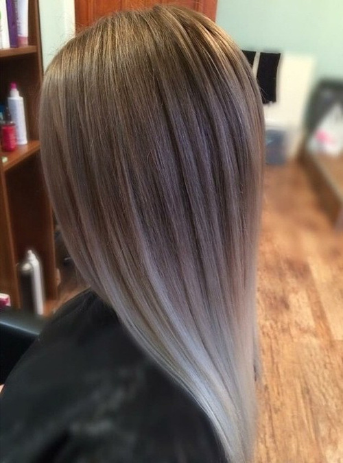 Honey-Blonde-and-White-Silver-Ombre Gorgeous Ways to Rock Blonde and Sliver Hair