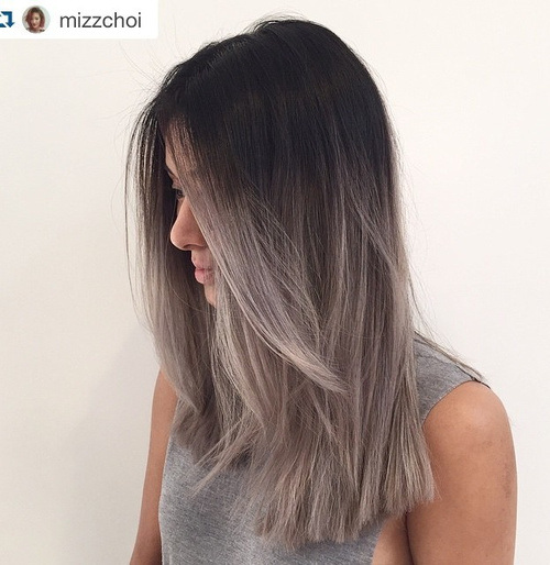Jagged-Cut-with-Silver-Ends Gorgeous Ways to Rock Blonde and Sliver Hair