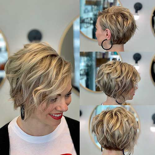 Layered-Hair Best Short Haircuts for Women with Curly Hair