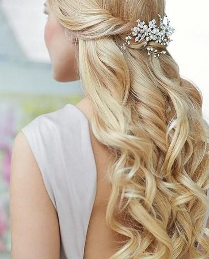 Long-Blond-Wavy-Hair-for-Wedding-Hairstyles Super Charming Wedding Hairstyles for 2019