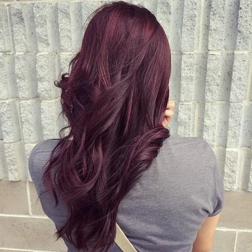 Long-Curls Trendy Mahogany Hair Color Ideas