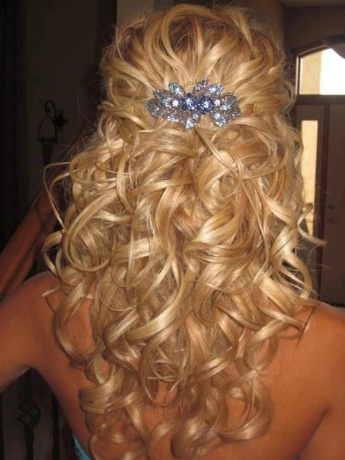 Long-Curly-Wedding-Hairstyle Perfect Curly Wedding Hairstyles