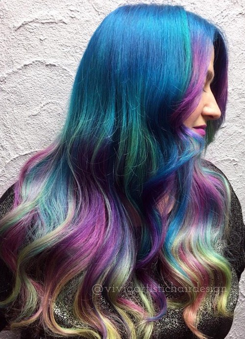 Mermaid-Waves-for-long-hair Best Hair Colors for Winter 2019: Hottest Hair Color Ideas