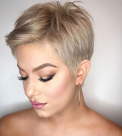 Modern-Short-Blonde-Pixie-Hair-Style Modern Hairstyles for Short Hair