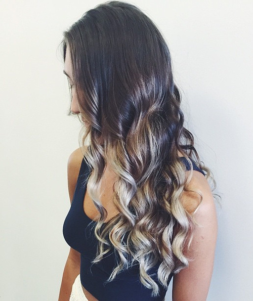 Multi-Colored-Ombre Gorgeous Ways to Rock Blonde and Sliver Hair