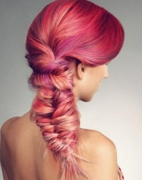 Ombre-Fishtail Hair Color Trends for 2019: Red Ombre Hairstyles