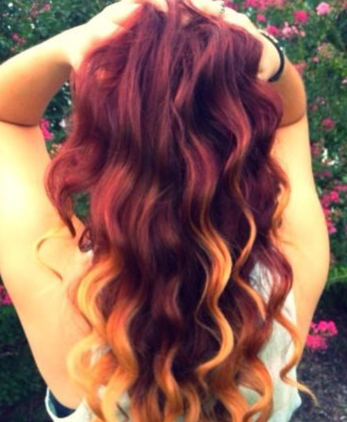 Red-Ombre-Hair Hair Color Trends for 2019: Red Ombre Hairstyles