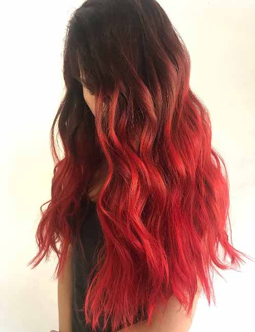 Red-Ombre-Hairstyles-5 Hair Color Trends for 2019: Red Ombre Hairstyles