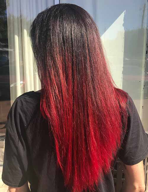 Red-Ombre-Hairstyles-7 Hair Color Trends for 2019: Red Ombre Hairstyles