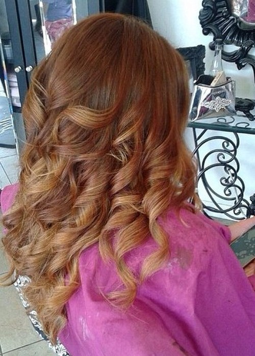 Red-and-Chestnut-Ombre New Hairstyles and Hair Color Ideas for Fall