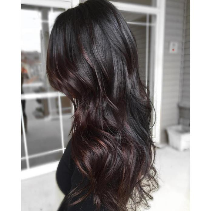 Shinny-highlighted-black-hair-for-long-hair Stunning Hairstyles for Black Hair 2019