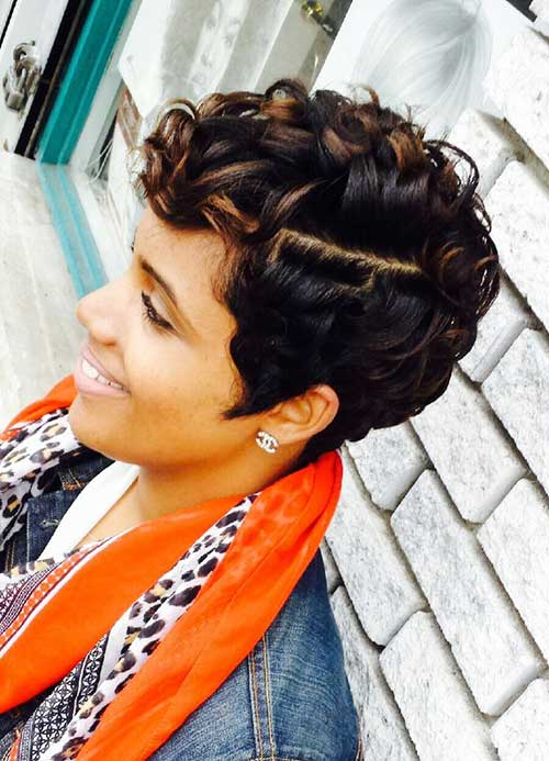 Short-Curly-Pixie-Hairstyle-for-Black-Women Short Curly Pixie Haircuts
