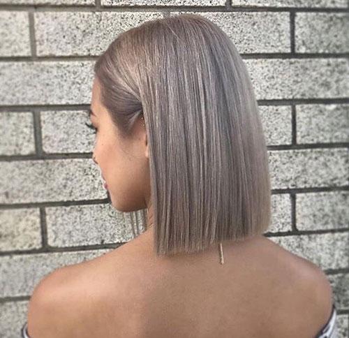 Short-Hair-Straight-Cut Latest Bob Style Haircuts