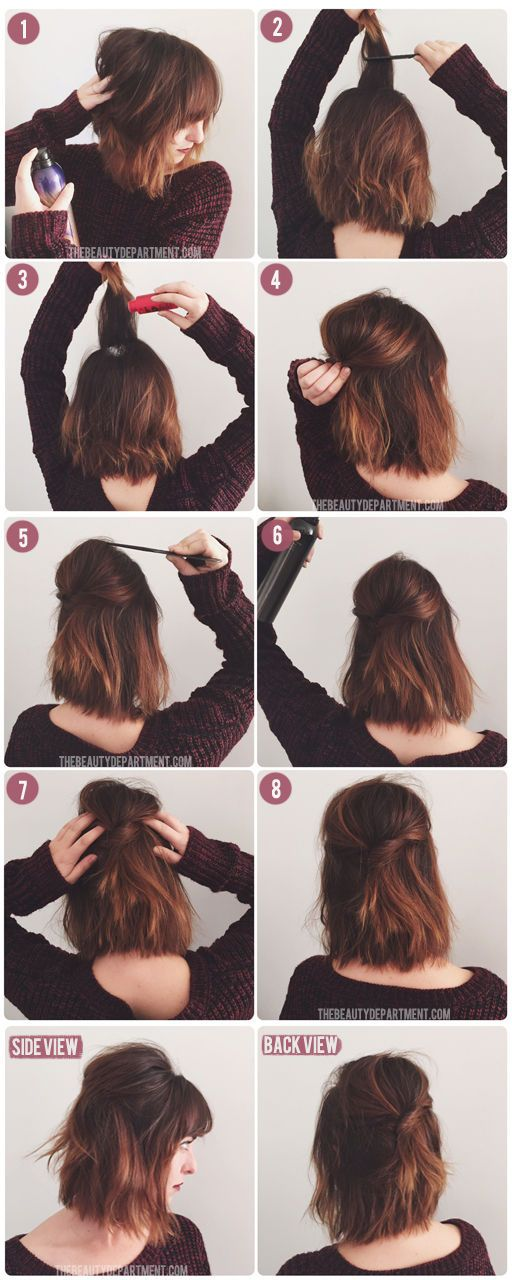 Short-Hairstyle Hair Tutorials to Style Your Hair