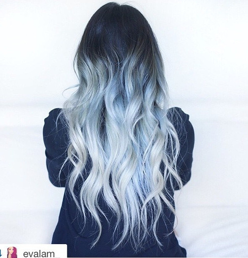 Silvery-Blue-Waves Gorgeous Ways to Rock Blonde and Sliver Hair
