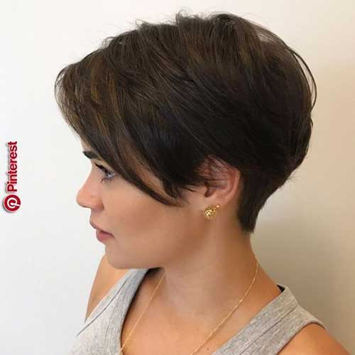Simple-Pixie-with-Long-Bangs Pixie Hairstyles for the Best View