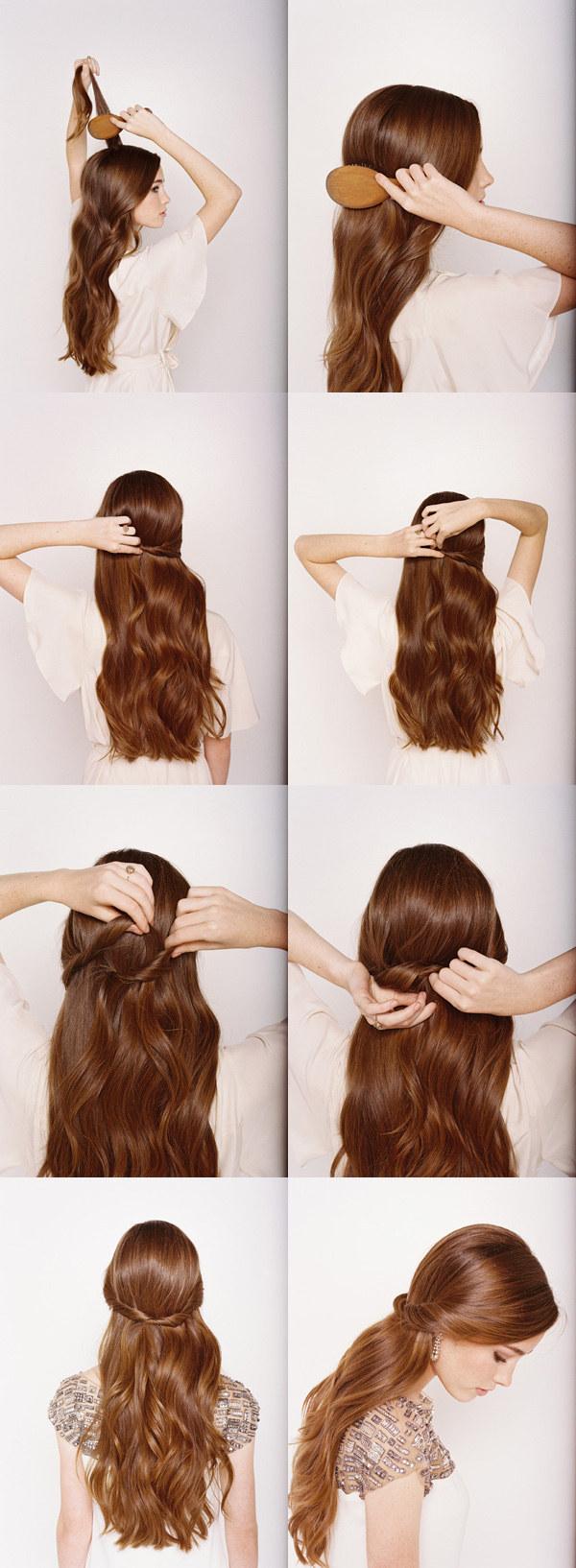 Sleek-Half-up-Half-down Hair Tutorials to Style Your Hair