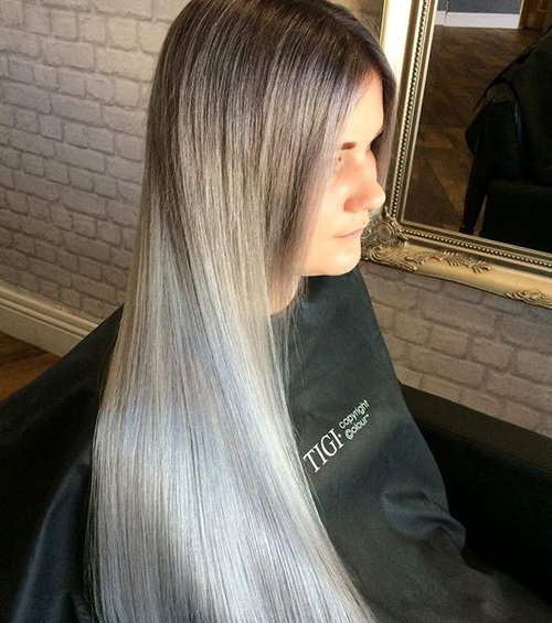 Super-Long-and-Sleek Gorgeous Ways to Rock Blonde and Sliver Hair