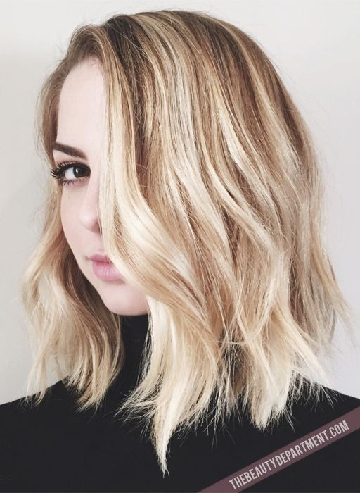 Trendy-Shoulder-Length-Wavy-Hairstyle Great Hairstyles for Medium Length Hair 2019