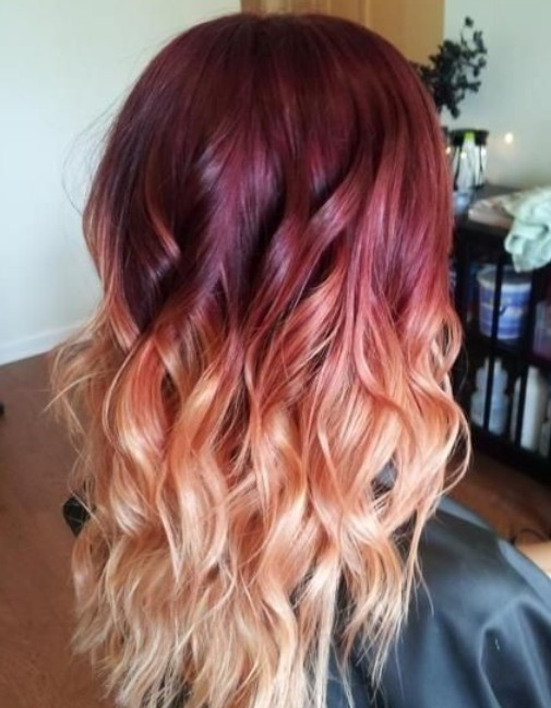 Two-tone-Hair-1 Hair Color Trends for 2019: Red Ombre Hairstyles