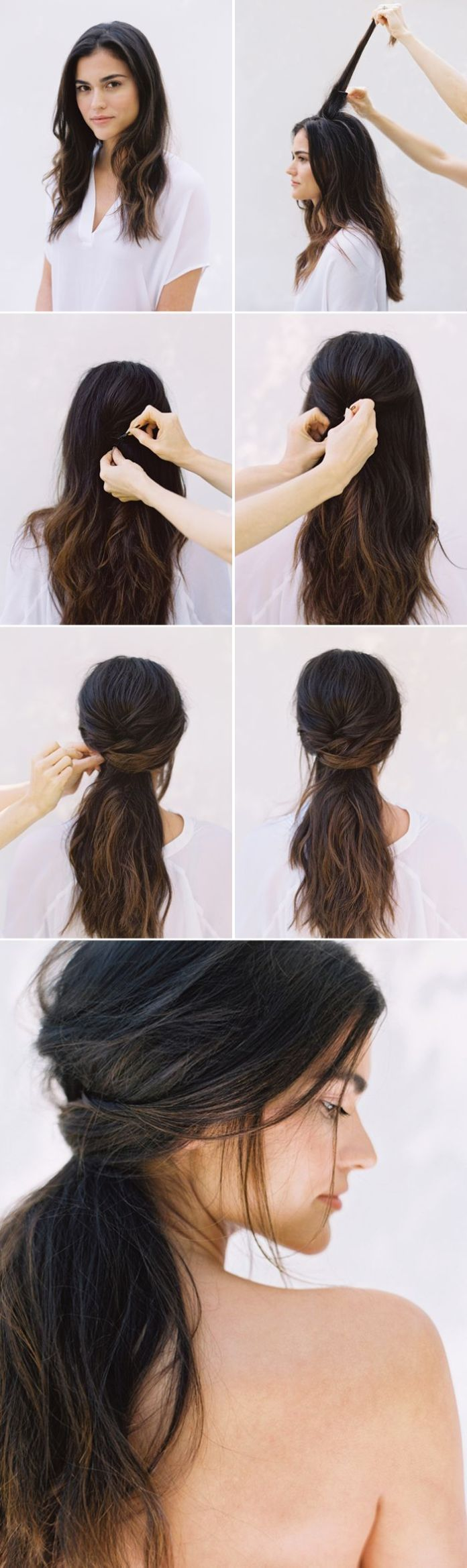 Wedding-Half-up-Half-down Hair Tutorials to Style Your Hair