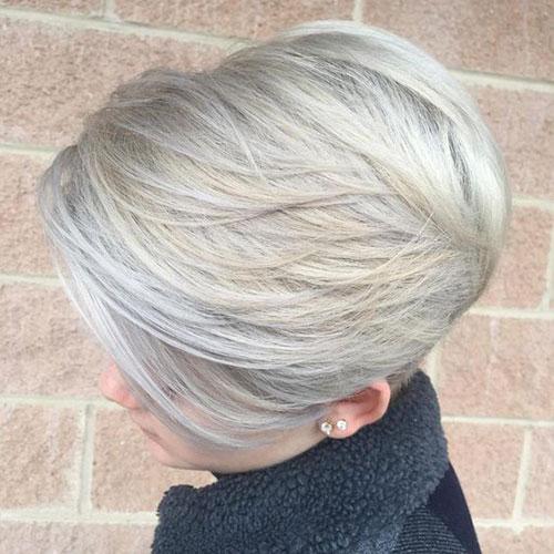 White-Blonde-Bob Modern Hairstyles for Short Hair