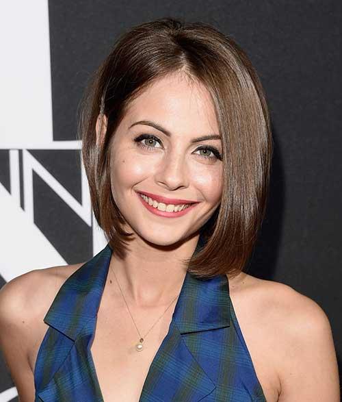 Willa-Holland-Fine-Brown-Bob-Haircut New Bob Haircuts for Fine Hair
