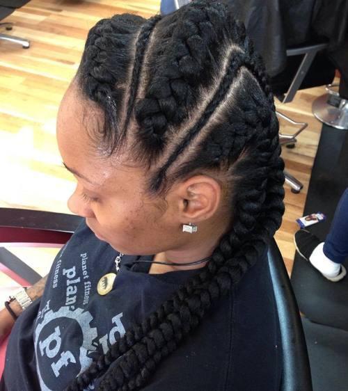 Alternating-Up-Do Best Goddess Braids for Women – Goddess Braids Ideas